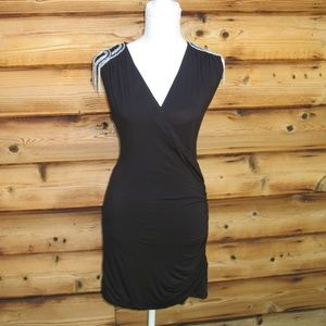 Cache Black Jersey Body Con Dress